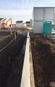 土掘りコンクリート練り